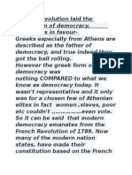 French Revolution Laid the Foundation of Democracy