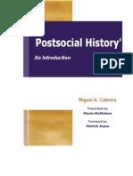 Miguel a. Cabrera_Postsocial History