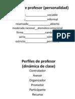 Perfiles de Profesor