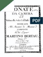 Berteau Martin Cello Sonatas Op.1