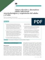 Fármacos de Primera Elección y Alternativos en Las Enfermedades Infeccciosas Otorrinolaríngeas y Respsiratorias Del Adulto y El Niño