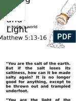 Being Salt and Light PPT