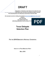 2016 Texas Delegate Selection Plan (DRAFT)