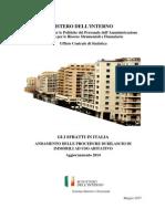 La pubblicazione del ministero dell'Interno sugli sfratti nel 2014