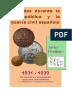 Monedas durante la II República y guerra civil española