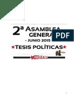 Tesis politicas aprobadas  en la 2ª Asamblea General de RedRoja