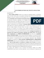DENUNCIA ANTE FISCALIA POR DESACATO