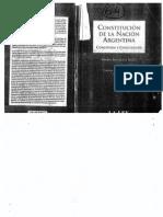 Constitucion de La Nacion Argentina- Comentada Y Concor.