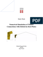 Numerical Simulation of Timber Connections With Slotted-In Stell Plates. Michael Nygaard Nonbo 2010
