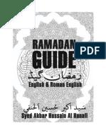 Ramadan Guide by Akbar Hussain Al Hanafi