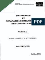 Pathologie Et Réparations Structurelles Des Constructions [Plumier] Partie 3. Réparations Structurelles