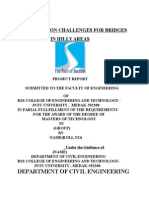 Construction Challenges for Bridges in Hilly Area (1