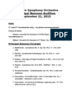 Principal Bassoon Audition - Rep List