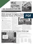 Historic Irvington Newsletter - 2015 Summer