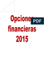 Opciones financieras 2015