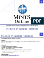 Pensum Maestria en Teologia