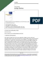 Criminal Law and Morality at War