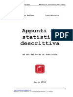 Accesso Economia e Management - Dispense Statistica