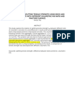 Comparison of Splitting Tensile Strength Using Brick and Stone Aggregate With Different Volumetric Mix Ratio and Fracture Surface