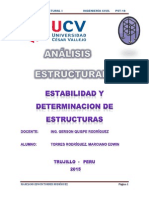 Estabilidad y Determinación de Estructuras