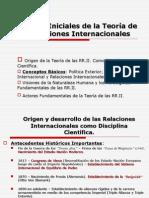 Nociones Iniciales de La Teoría de Las Relaciones Internacionales