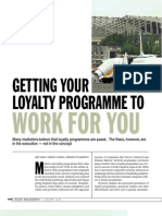 Getting Your Loyalty Programme to Work for You MXV