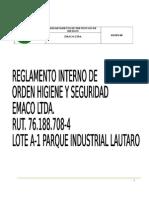 Reglamento Interno Emaco Ltda (Actualizado)