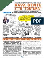Il pieghevole del Sindacato autonomo poliziotti sul reato di tortura