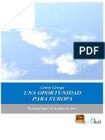 Crisis Griega. UNA OPORTUNIDAD PARA EUROPA