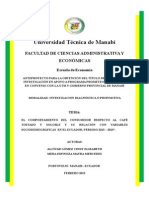 EL COMPORTAMIENTO DEL CONSUMIDOR RESPECTO AL CAFÉ TOSTADO Y SOLUBLE Y SU RELACIÓN CON VARIABLES SOCIODEMOGRÁFICAS  EN EL ECUADOR, PERIODO 2013 – 2015*.