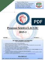 Gabarito - Prova Laccic - Processo Seletivo 2015