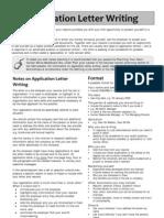 Aplplication Letter Writing
