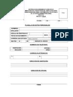 Planillas de Datos Personales Pregrado