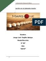 Colonización en El Planeta Marte