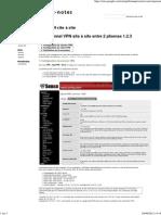 OpenVPN Site à Site - Mon Bloc-notes
