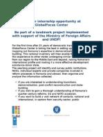 Internship Opportunity GlobalFocus