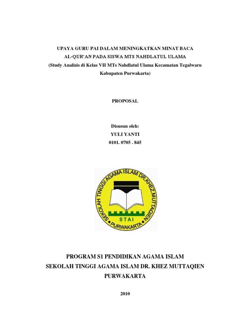 Contoh Proposal Skripsi Pai Tarbiyah Kualitatif Pdf