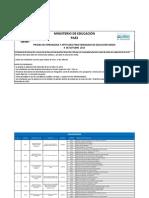 Sedes de Aplicacin - Paes Ordinaria 2013