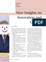 New Insights on Innovation and Quality
