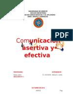 COMUNICACIÓN ASERTIVA Y EFECTIVA