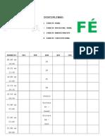 Cronograma - Delegado