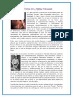 Historia Del Cajon Peruano