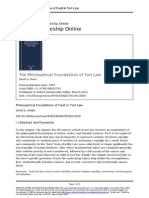 Philosophical Foundations of Fault in Tort Law