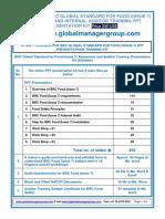 Demo of BRC Global Standard for Food