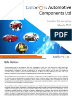 Investor Presentation - March 2015 [Company Update]