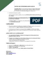FICHA de recogida de datos con información del Registro ER