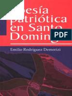 Emilio Rodriguez Demorizi - Poesia Patriotica en Santo Domingo