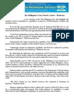 june29.2015 bModernization of the Philippine Coast Guard, a must - Madrona