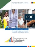 Matriz Productiva Ecuatoriana