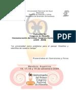 Ponencias Congreso de Filosofia UNCuyo 09